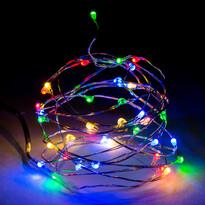 Světelný drát barevný, 40 LED