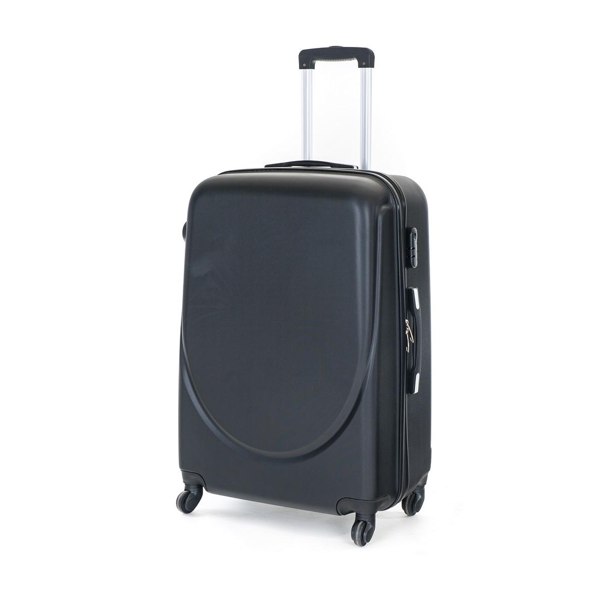 Pretty UP Cestovný škrupinový kufor ABS16 L, čierna