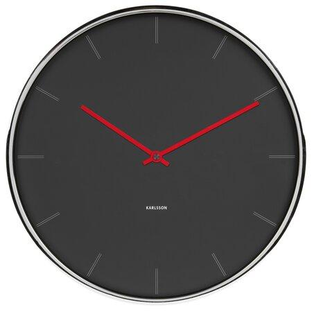 Karlsson 5643GY Designové nástenné hodiny, 40 cm