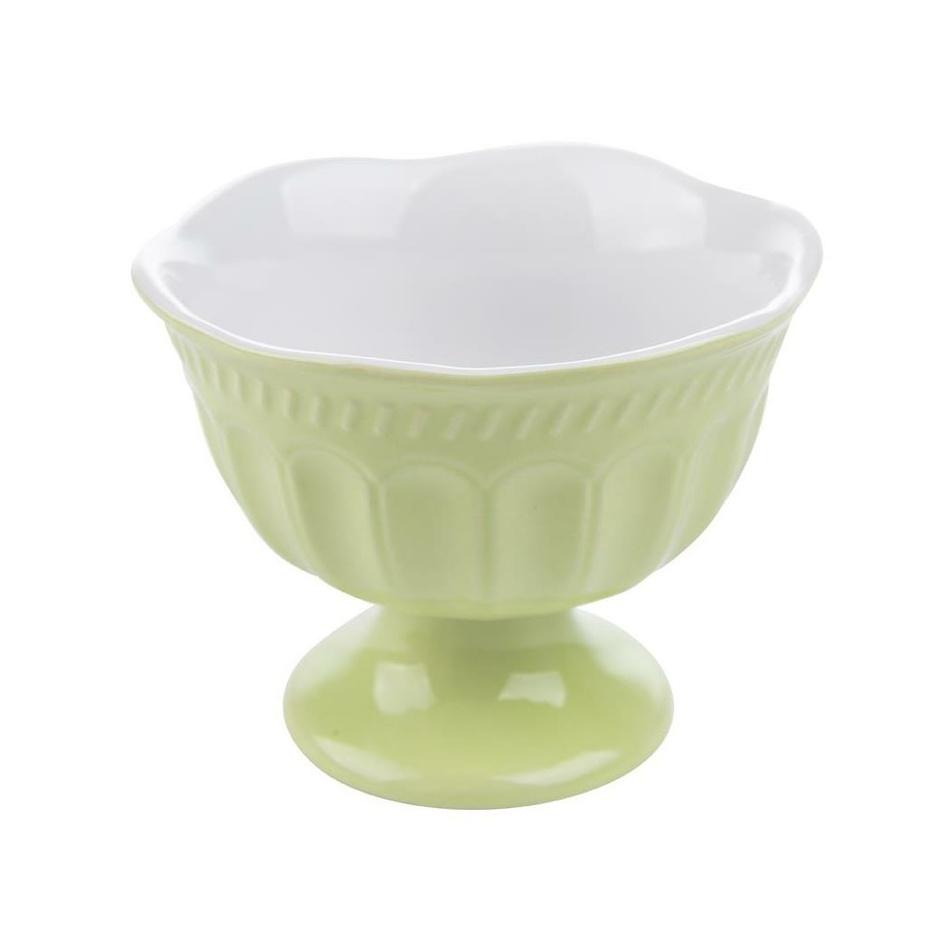 Florina Sada keramických pohárov na zmrzlinu Roma, 210 ml, 6 ks, zelená