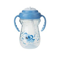 Akuku Detský hrnček Pes modrá, 360 ml