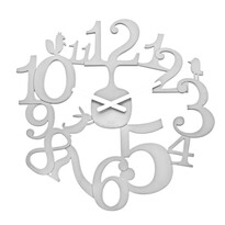 Koziol Zegar ścienny Pl:P biały, śr. 45 cm