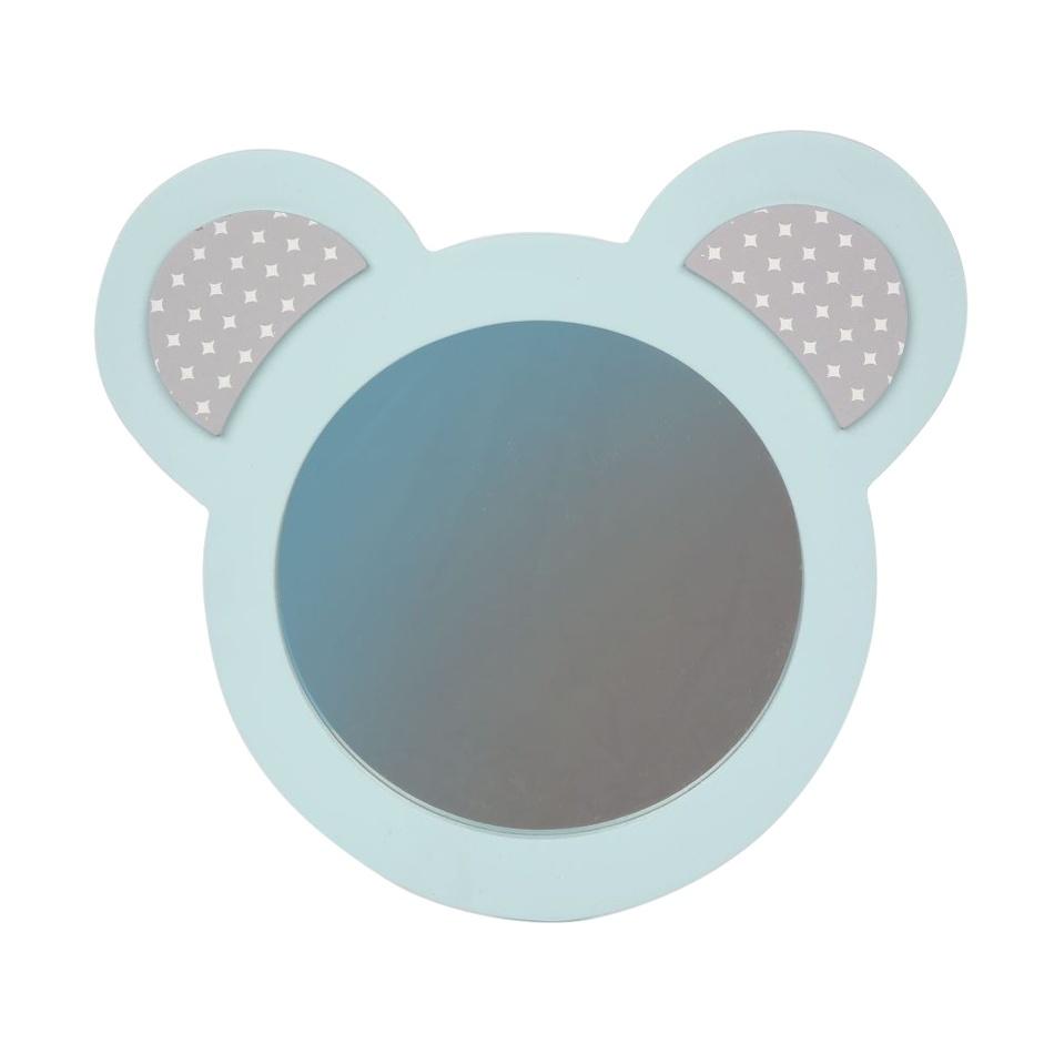 Altom Dřevěné zrcátko Medvídek, modrá