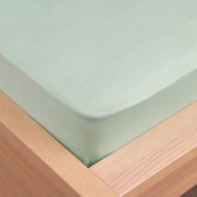 Prostěradlo jersey Klasik tyrkysová, 180 x 200 cm
