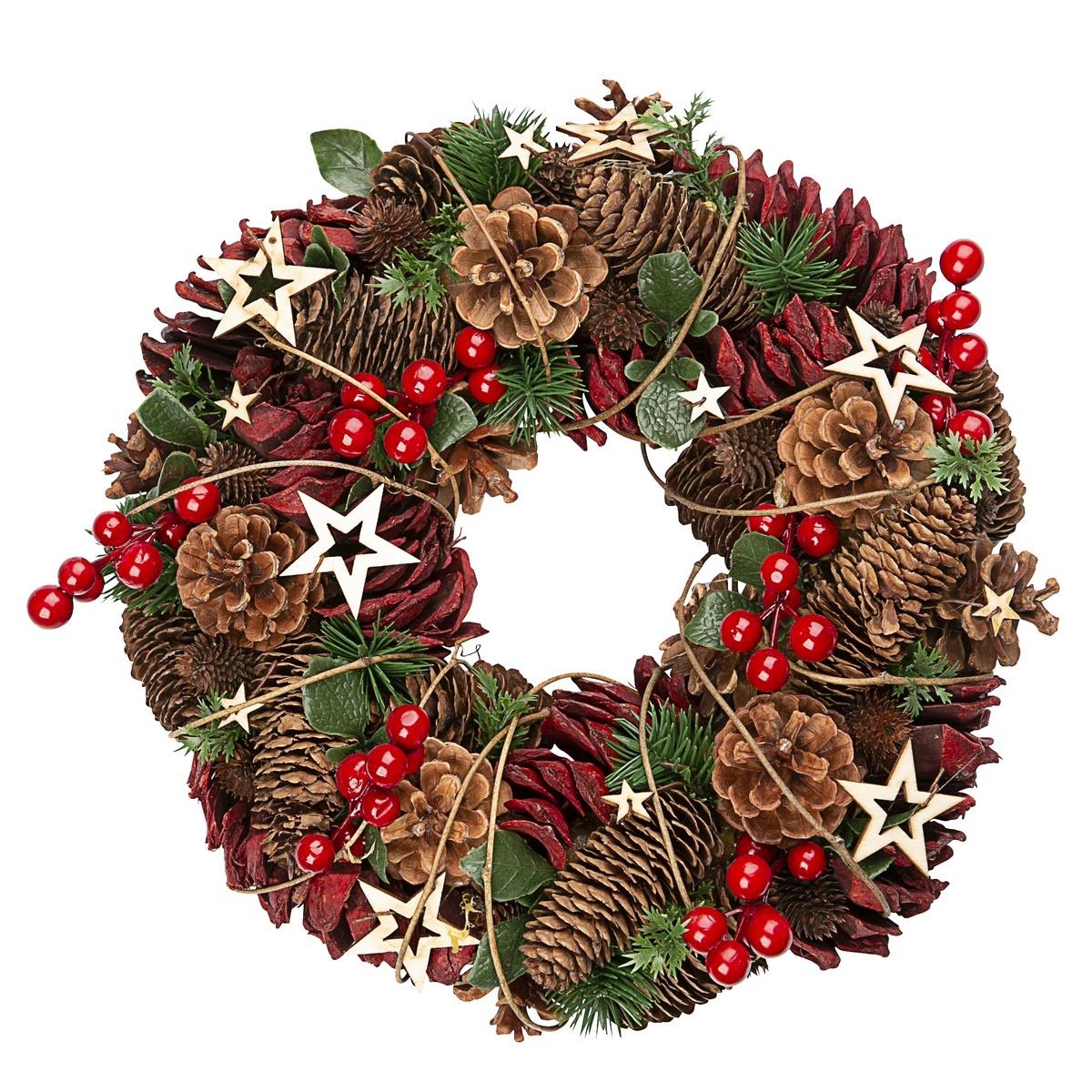 Altom Vánoční věnec Luxury 35 cm, červená