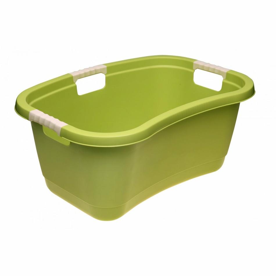 Keeeper Ergonomický koš na čisté prádlo janne, zelený 49l