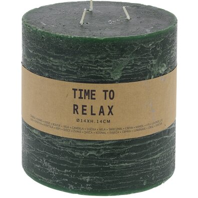 Time to relax dekorgyertya, zöld, 14 cm