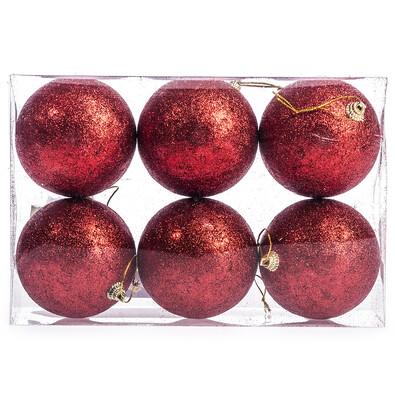 Vánoční koule 6 ks, červená