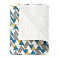 Mistral Home Koc z barankiem Triangle niebieski, 130 x 170 cm