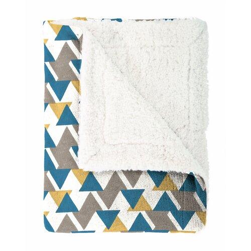 Mistral Home Baránková deka Triangle modrá, 130 x 170 cm