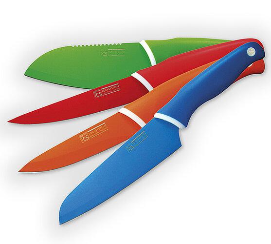 Sada barevných nožů
