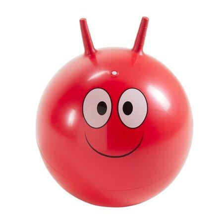 Piłka do skakania z uszami Buźka czerwony, 45 cm