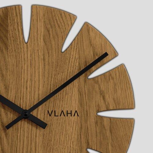 Vlaha VCT1015 Dubové hodiny pr. 32,5 cm, černá