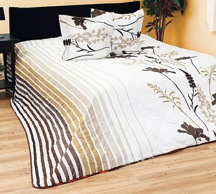 Přehoz na postel hnědý, 240 x 220 cm
