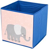 Cutie de depozitare pentru copii Hatu Elefant, 30 x 30 x 30 cm