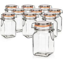 Set doze de sticlă cu dop ermetic 10 buc. Banquet Lina, 250 ml