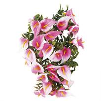 Floare artificială cală roz 2 buc