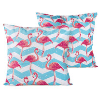 4Home Flamingo kispárnahuzat, 2x 40 x 40 cm