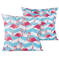 4home Obliečka na vankúšik Flamingo, 40 x 40 cm, sada 2 ks