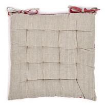 Heda steppelt ülőke, bézs/piros, 40 x 40 cm