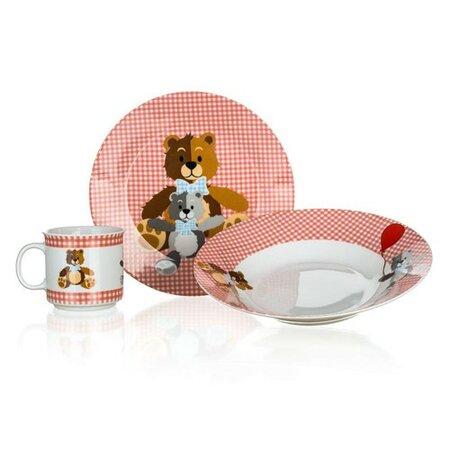 Banquet 3dílná dětská sada Medvídci, červená