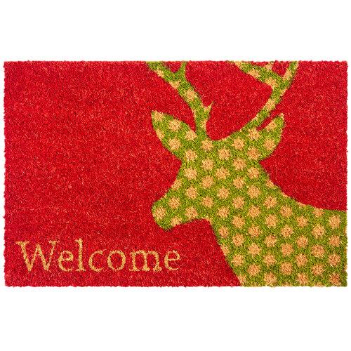Deer Welcome kókusz lábtörlő, 40 x 60 cm