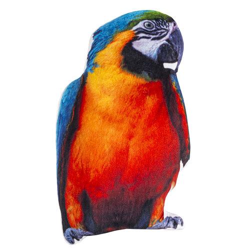 Papagáj formázott párna, 25 x 40 cm