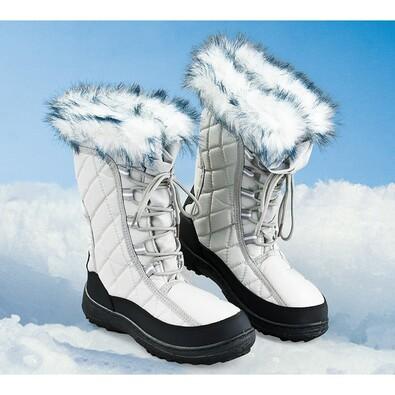 Dámské zimní boty, šedá, 40