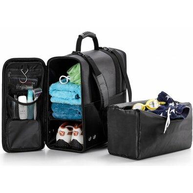 Cestovní sportovní taška černá, 40 x 46 x 19,5 cm