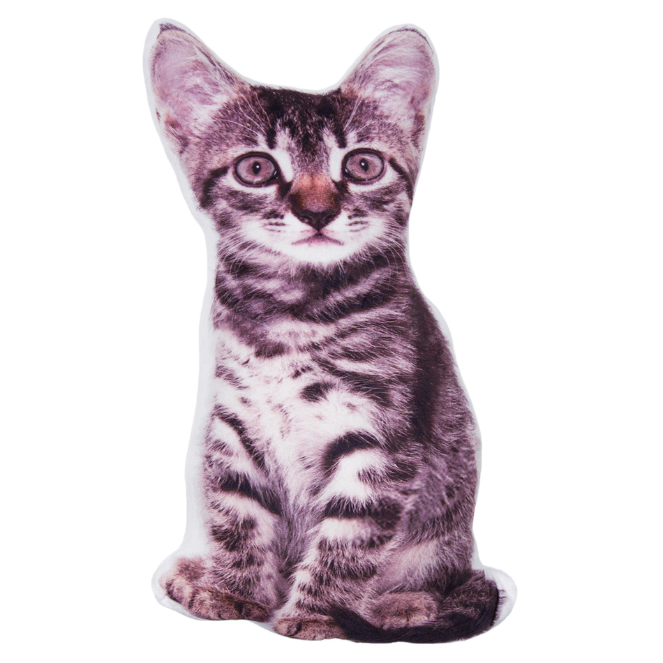Jahu Tvarovaný 3D vankúšik Mačiatko, 30 x 45 cm