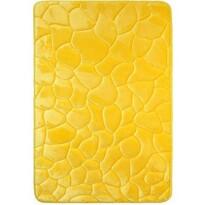 Covoraș de baie, cu spună cu memorie, Pietre, galben, 50 x 80 cm