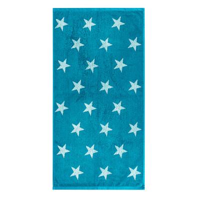 Ręcznik Stars turkusowy, 50 x 100 cm