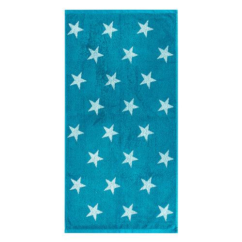 Ručník Stars tyrkysová, 50 x 100 cm