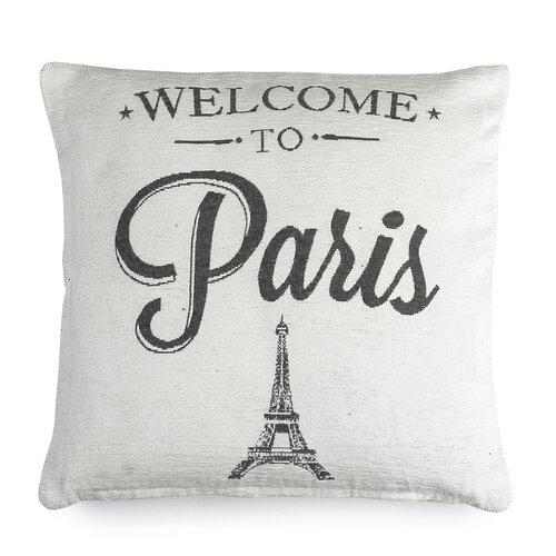 Obliečka na vankúšik Paris biela, 40 x 40 cm