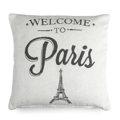 Povlak na polštářek Paris bílá, 40 x 40 cm
