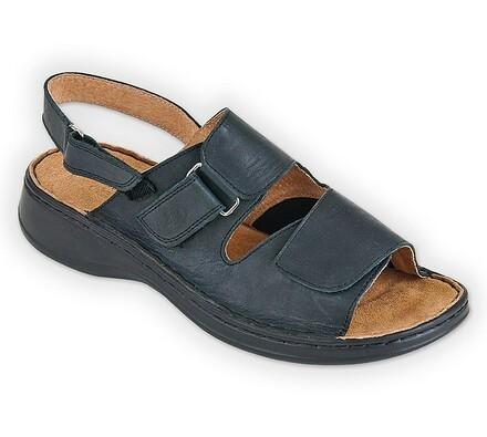 Orto Plus Dámské sandály se suchými zipy vel. 39 černé