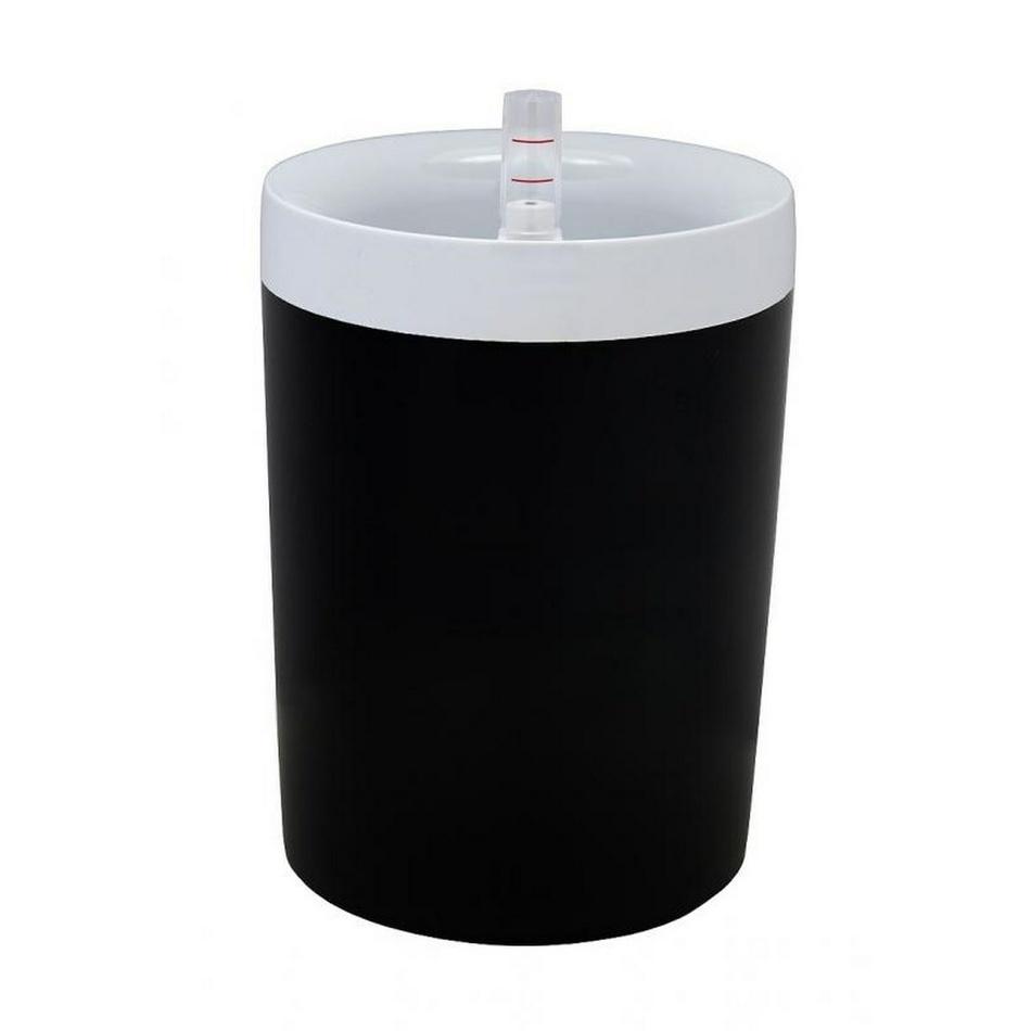 Plastia Samozavlažovací květináč Calimera B2 17 cm, bílá + černá