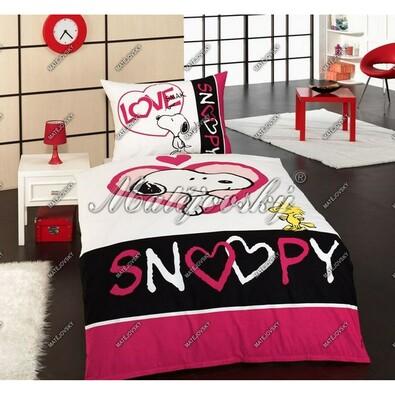 Matějovský dětské povlečení Snoopy Love, 140 x 200 cm, 70 x 90 cm