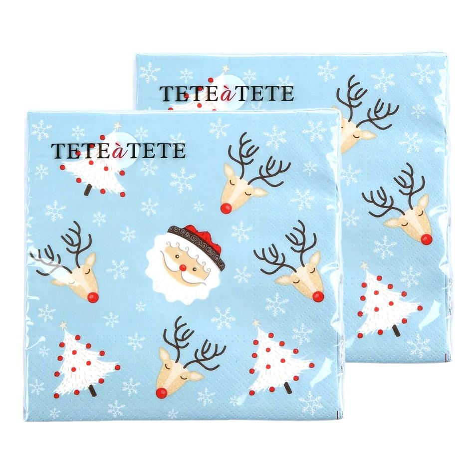 Altom Vánoční papírové ubrousky Christmas, 33 x 33 cm, sada 2 ks