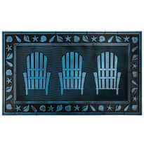 Gumi lábtörlő Három szék, 40 x 60 cm