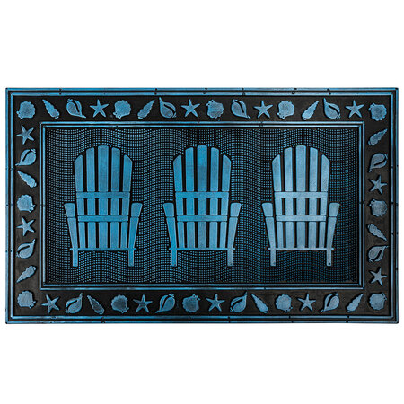 Gumová rohožka Tři židle, 40 x 60 cm