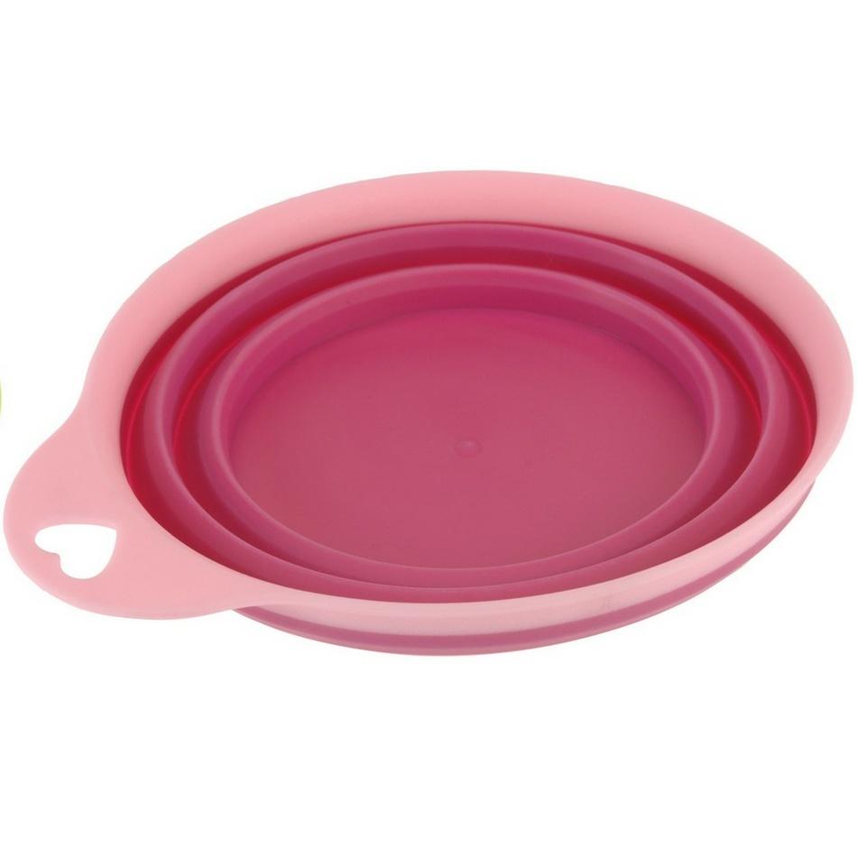 Skládací silikonová miska Colours, růžová