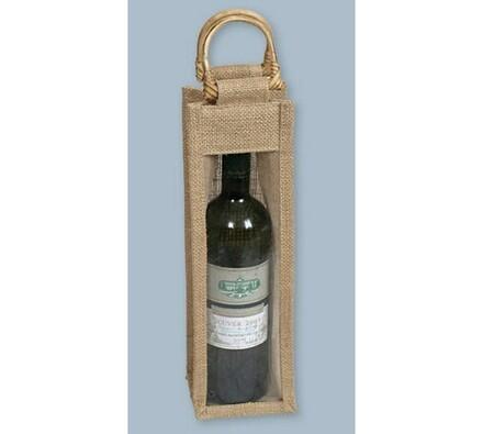 Jutová taška na 1 láhev