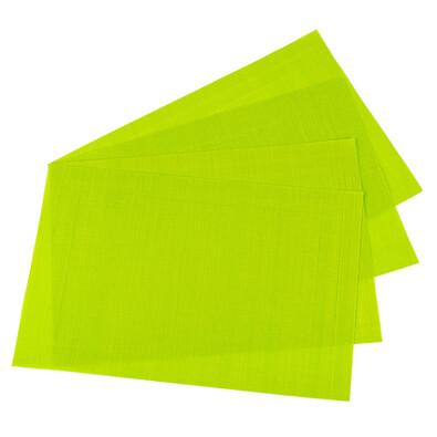 Prostírání PVC zelená, 45 x 30 cm, sada 4 ks