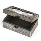 Dřevěná krabička se srdíčkem