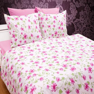 Bavlněné povlečení Nobles růžová, 220 x 200 cm, 2 ks 70 x 90 cm