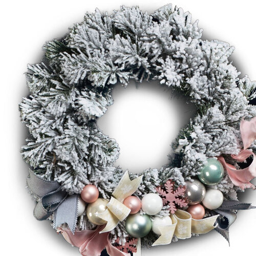 Vánoční věnec Orbio šedá, pr. 25 cm