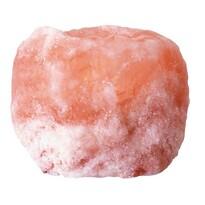 Suport de lumânare din cristale de sare,portocaliu