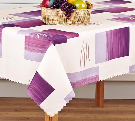 Teflonový ubrus fialové kostky, 140 x 160 cm
