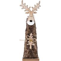 Vánoční dřevěný Sob Ervín hnědá, 40 cm